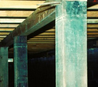 permanent roof support posts